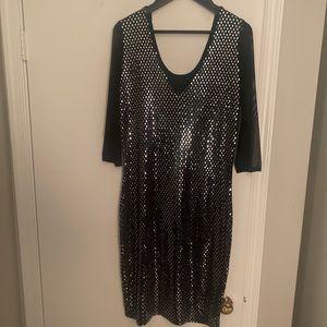 Women's Sequin  and Sheer Dress